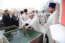 Чин Великого освящения воды в Чесменской церкви